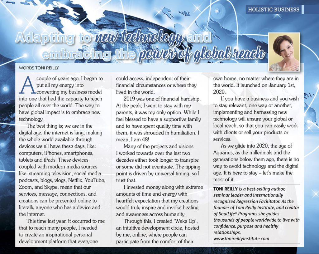 article by toni reilly holistic bliss magazine